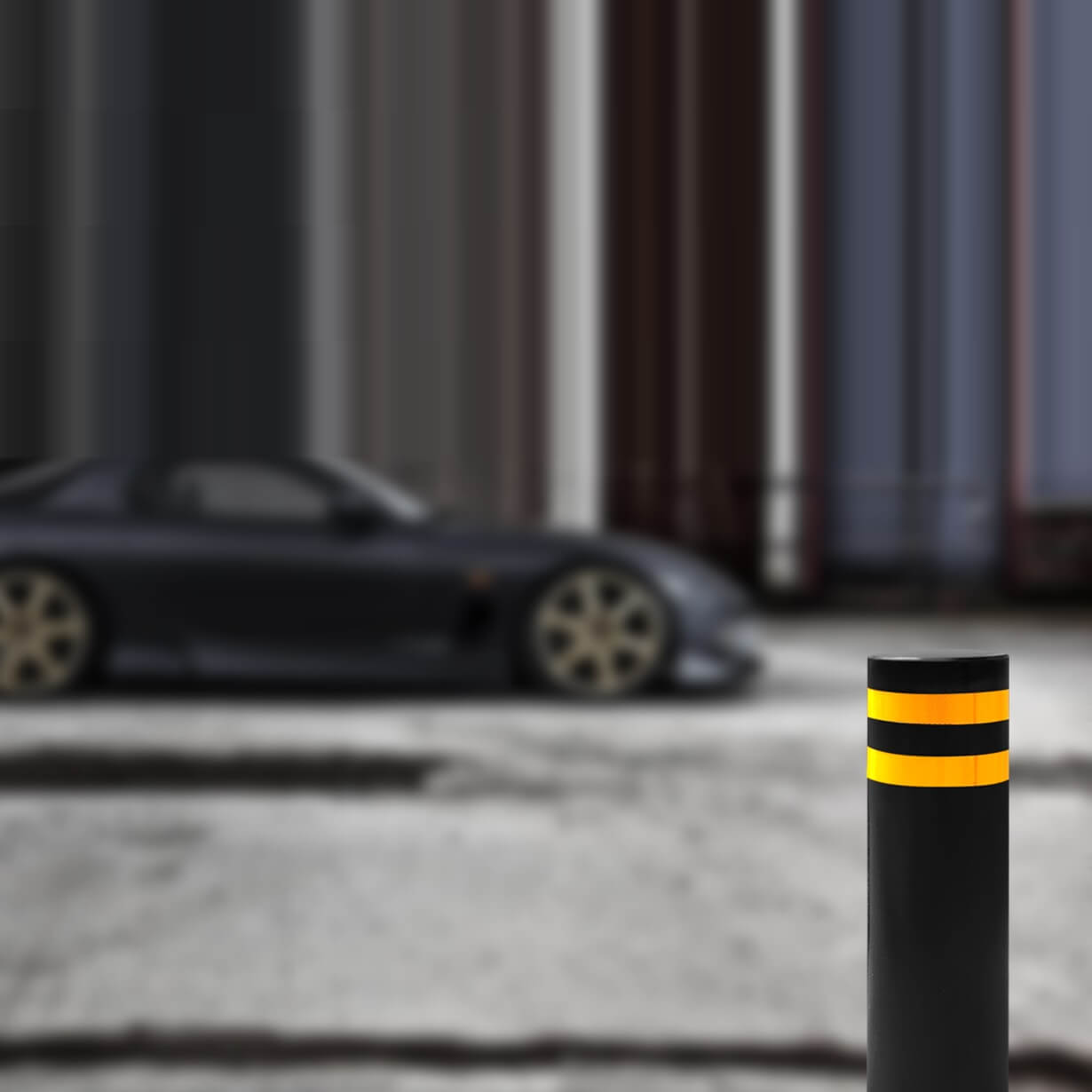 Solid HVM Security Bollard